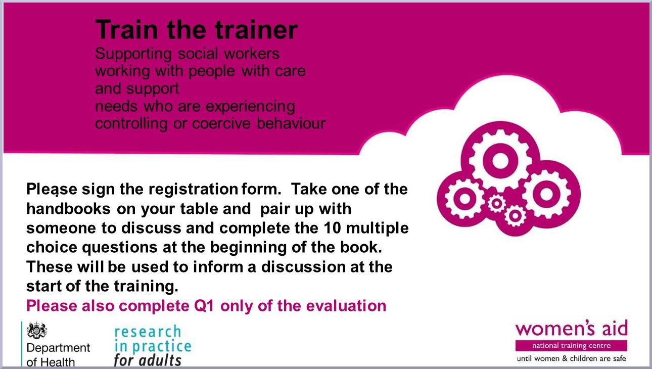 Train the Trainer slides